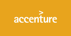 Accenture logo. Accenture relies on marketing cloud ecommerce software from Adobe and Elastic Path.