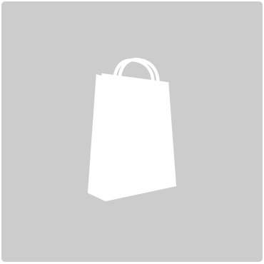 White paper shopping bag on grey background