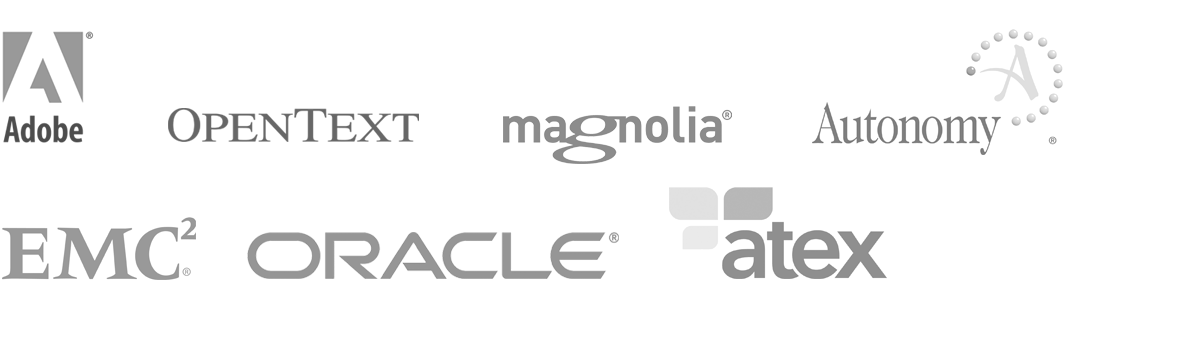 Elastic Path Content Management Systems - Adobe, OpenText, Magnolia, Autonomy, EMC, Oracel, Atex