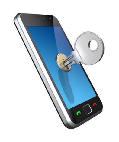 Key unlocking a mobile phone