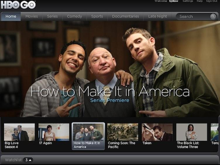 HBOgo how to make it in America