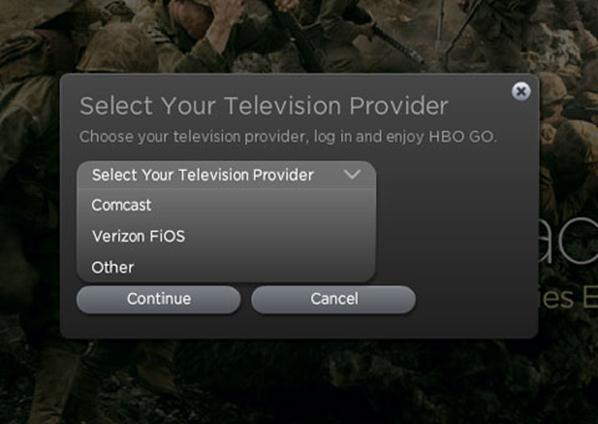 HBO select your TV provider