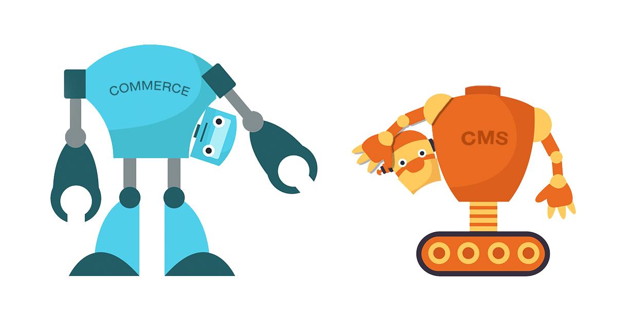 headless robots holding heads