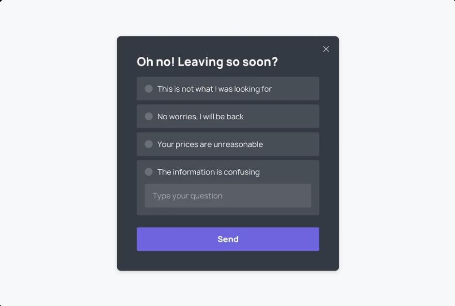 A Website Exit Survey example_Get Elastic