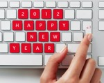 2012 Happy New Year message on a keyboard