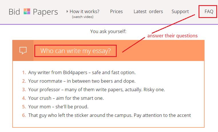 Bid4papers_Create FAQ page_Get Elastic