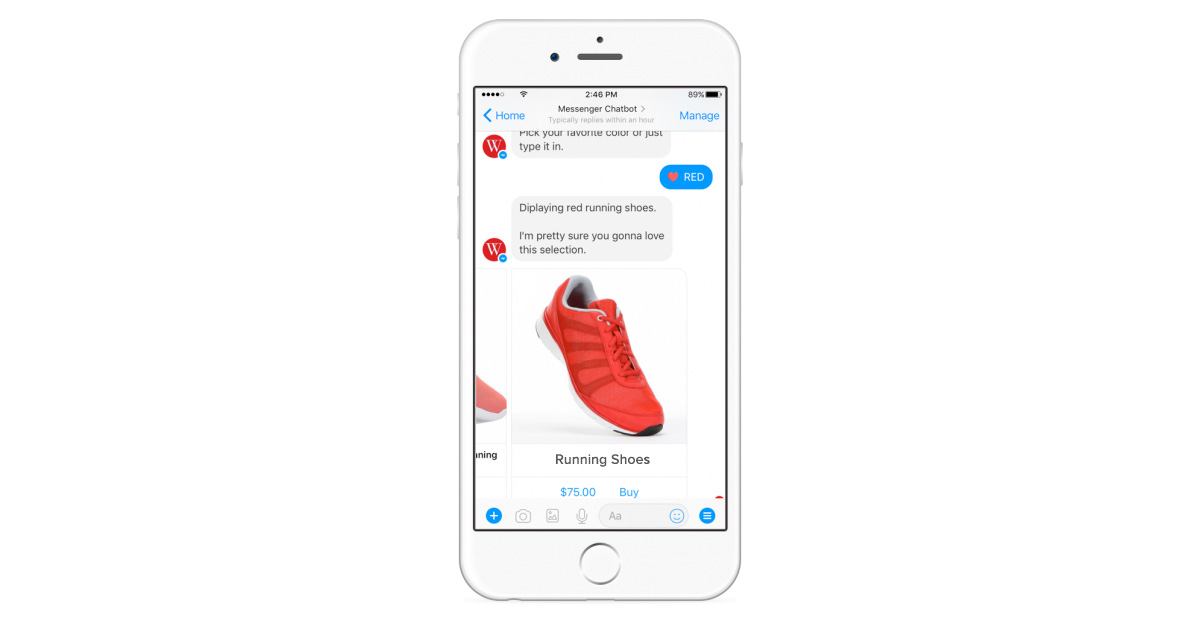 buying shoes text app