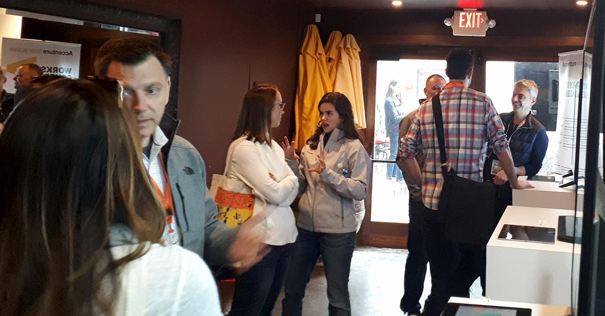 Sal demoing at SXSW blog image
