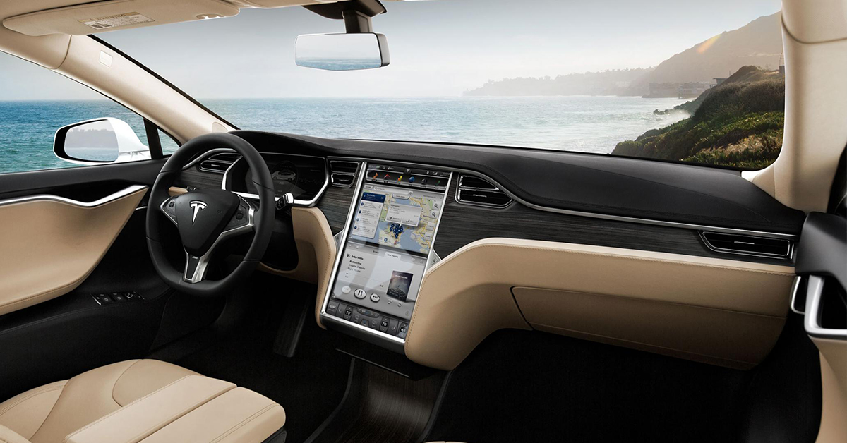 tesla car interior blog image