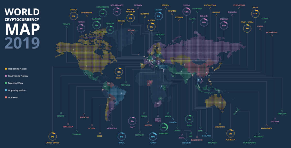 World cryptocurrency map 2019_Get Elastic