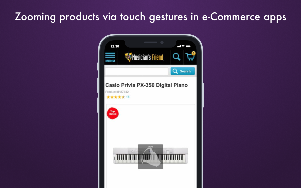 Zooming products via touch gestures in ecommerce apps_Get Elastic