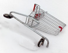 The half of a shopping cart