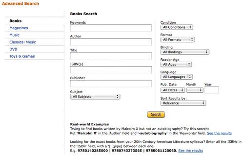 Amazon.com: advanced book search: Books