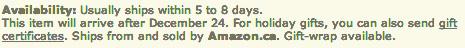 Amazon Not In Stock