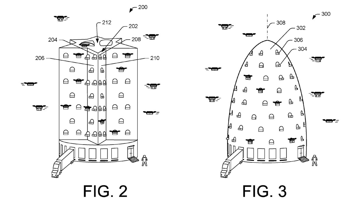 amazon beehive warehouse patent