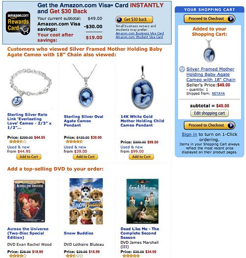 Amazon Cross Sell Layout