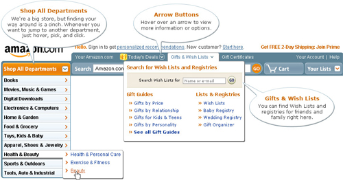 Amazon redesign 2007