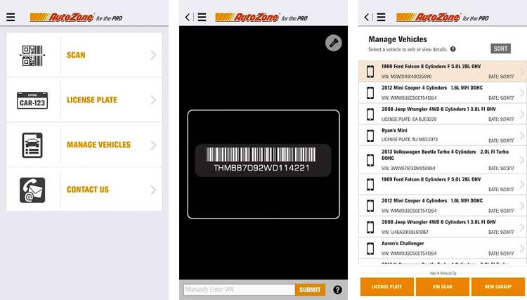 Autozone Pro mobile b2b app