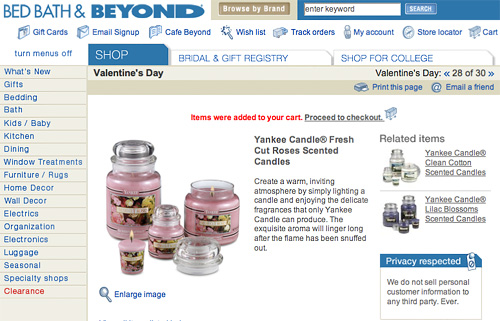 Bed Bath Beyond Example