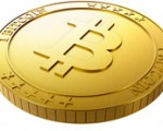 One golden bitcoin