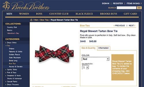 Brooks Brothers Example