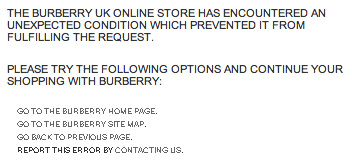 Burberry error