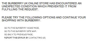 Burberry error