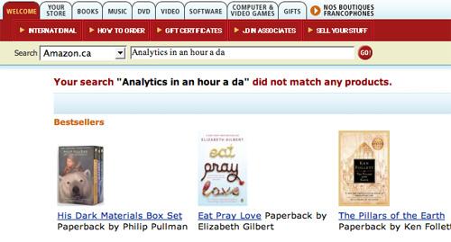 Amazon.ca Search Fail
