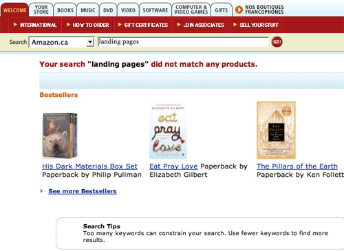 Amazon.ca Fails Search