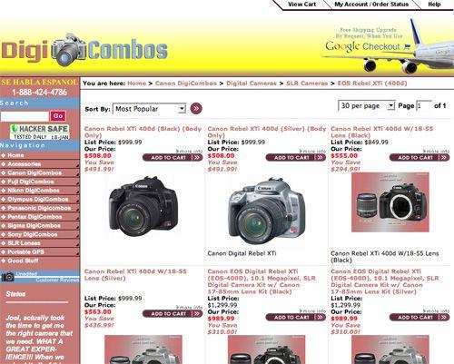 Digicombos Landing Page