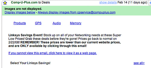 Compuplus Email Link