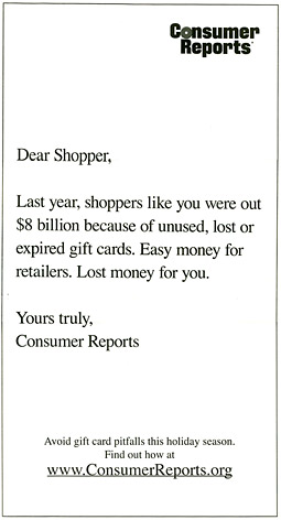 Consumer Reports Newspaper Ad