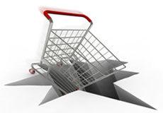 Shopping cart crash
