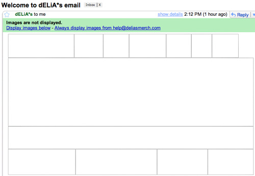 Delia's Email Images Off
