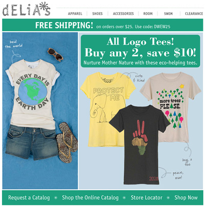Earth Day Email Delias