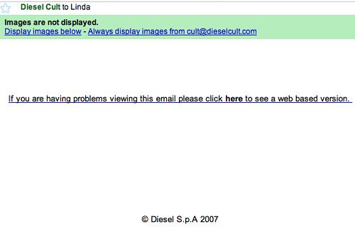 Diesel Cult Email