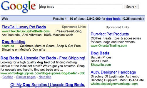 Dog Beds Ads