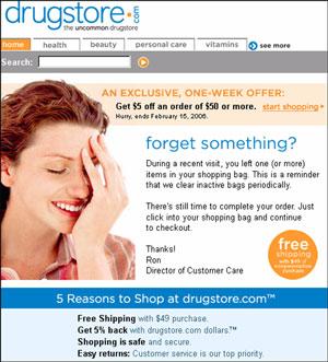 Drugstore.com Email