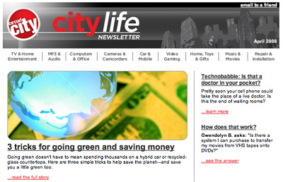Earth Day Email from Circuit City