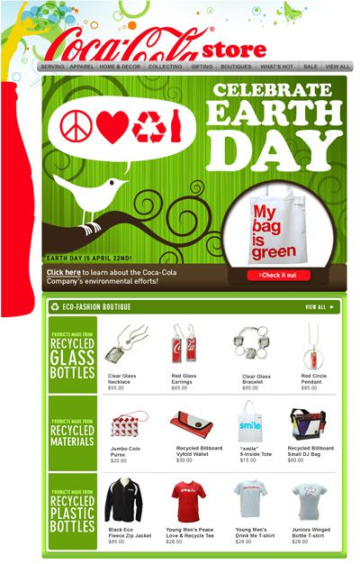 Earth Day Email Coca Cola