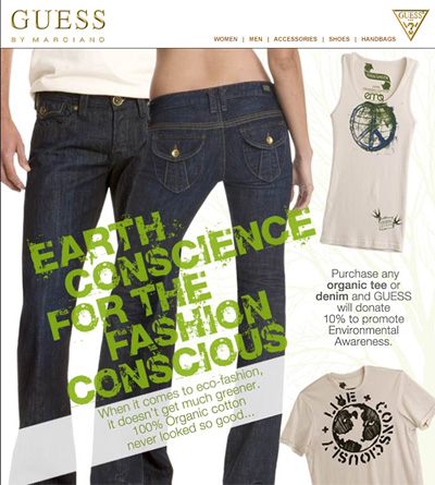 Earth Day Email from Guess