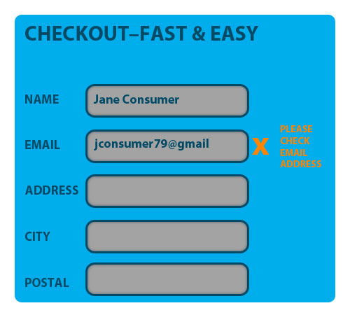 Example of inline form validation