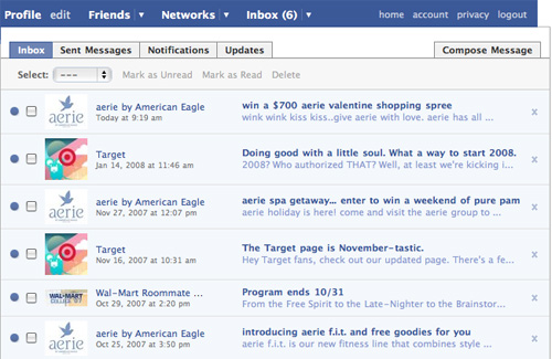 Inbox with direct emails