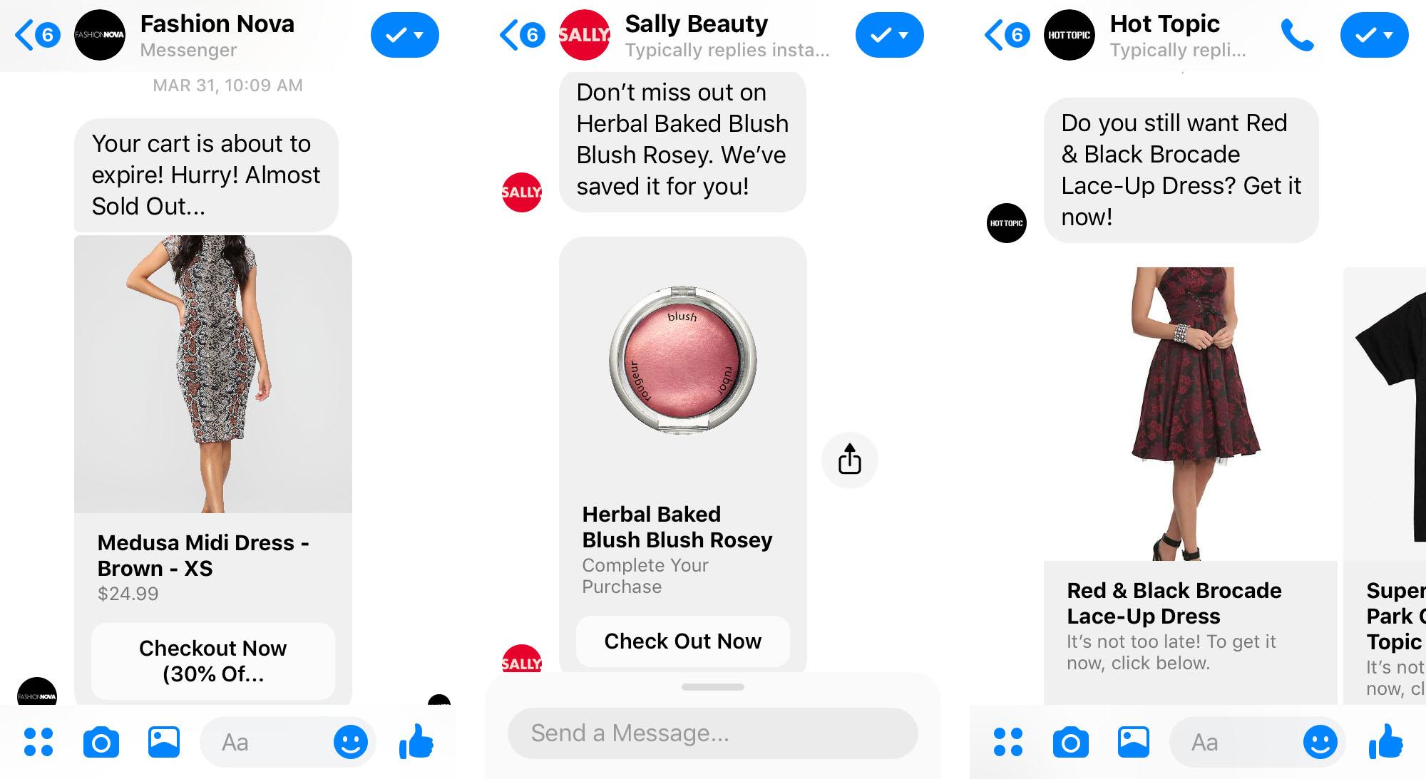 facebook messenger chatbot remarketing