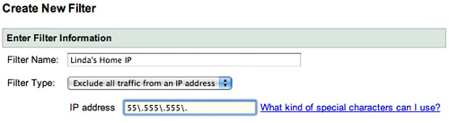 filter IP addresses