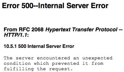 Generic Error Page