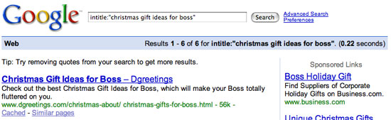 "Search results for ""Christmas gift ideas for boss"""