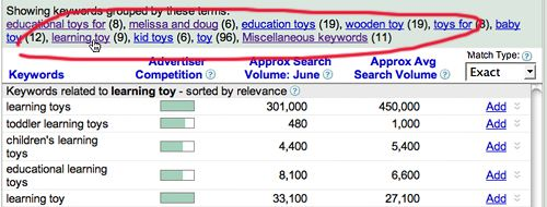 gktjump Utilizare Google Keyword Research Tool