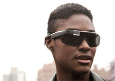 A man and google glass