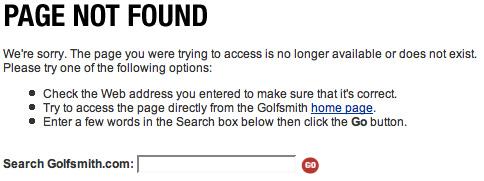 golfsmith error